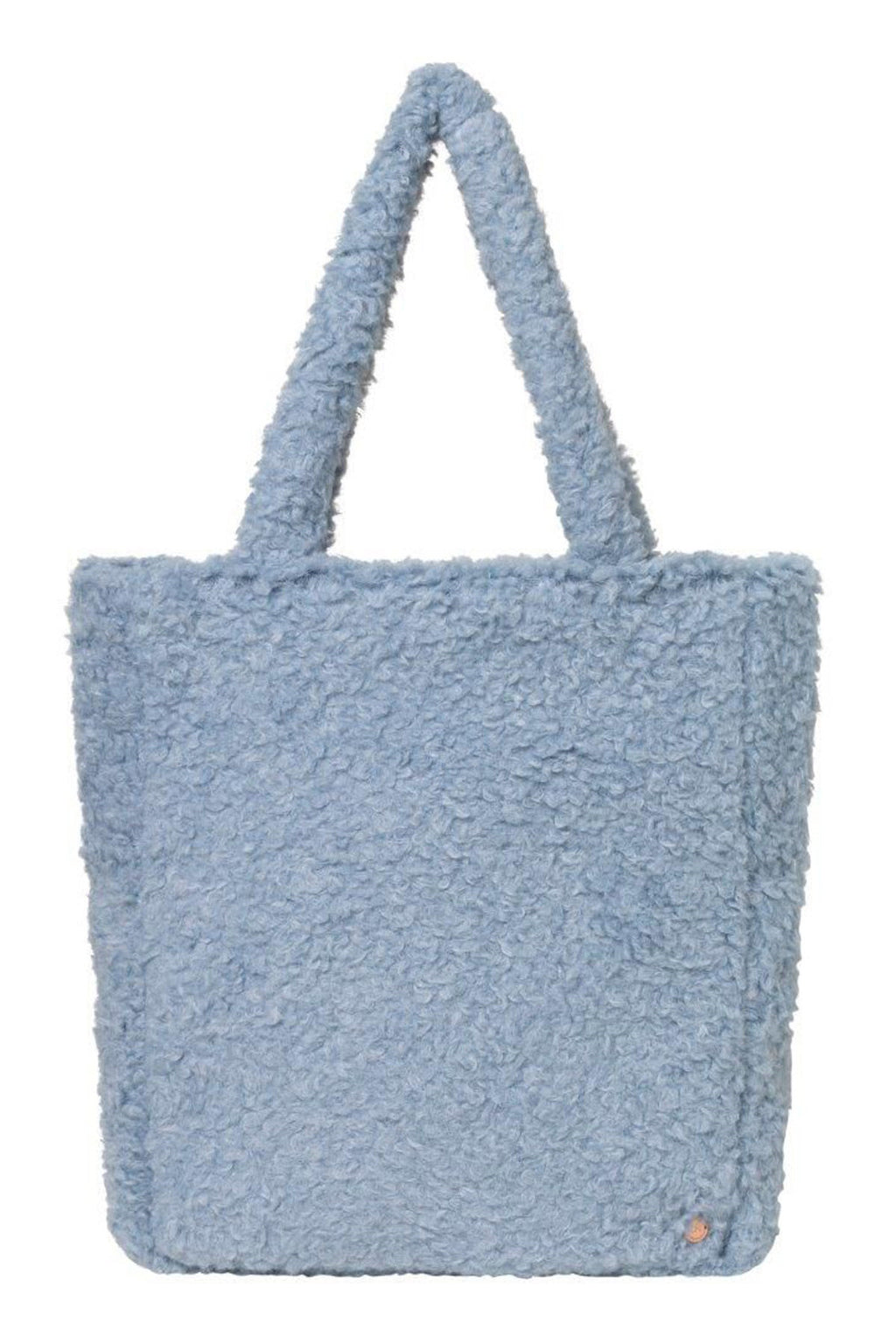 Fluffy handbag in blue