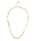Pearl beaded disc necklace
