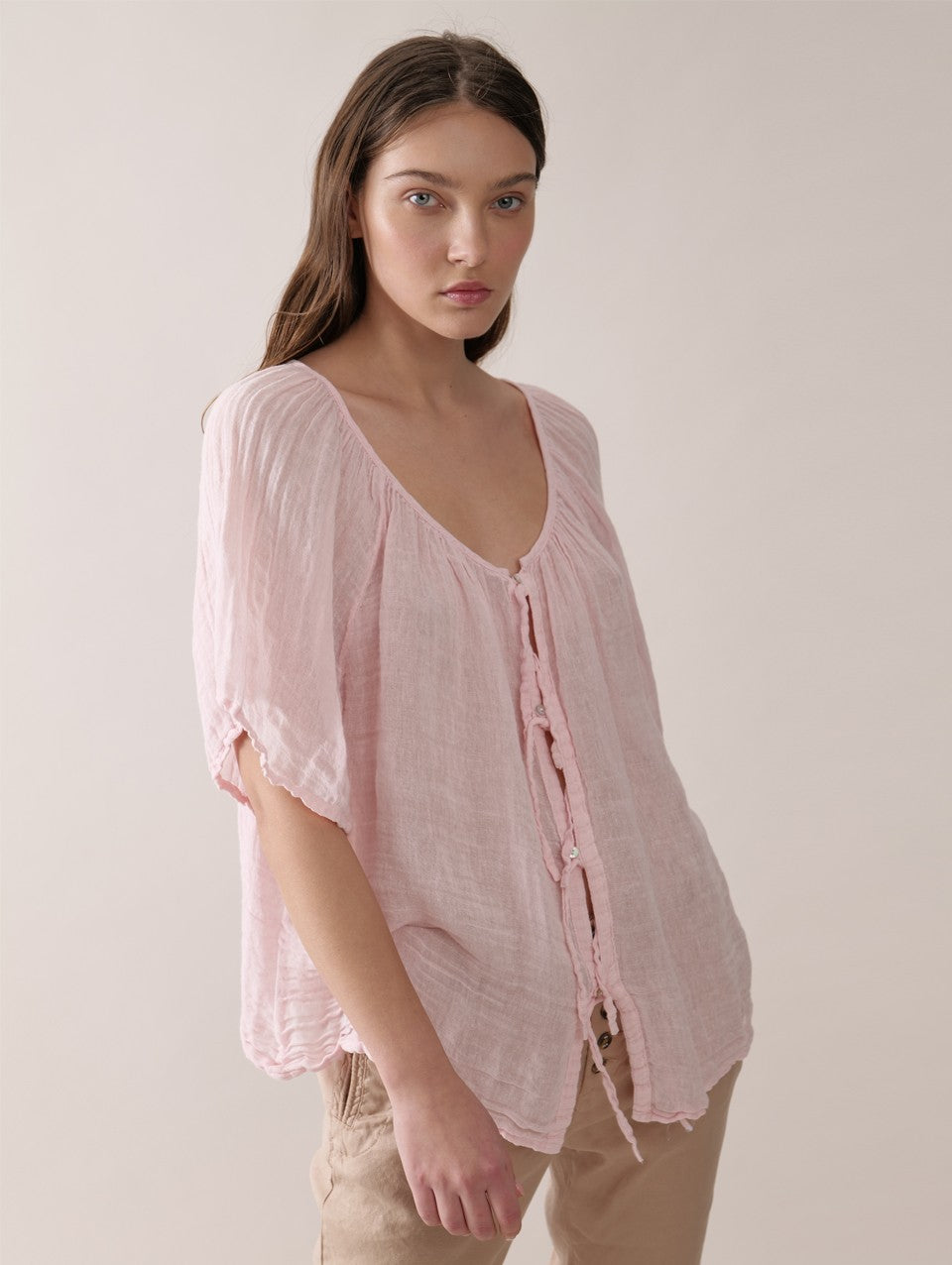 Pink Barbara Blouse