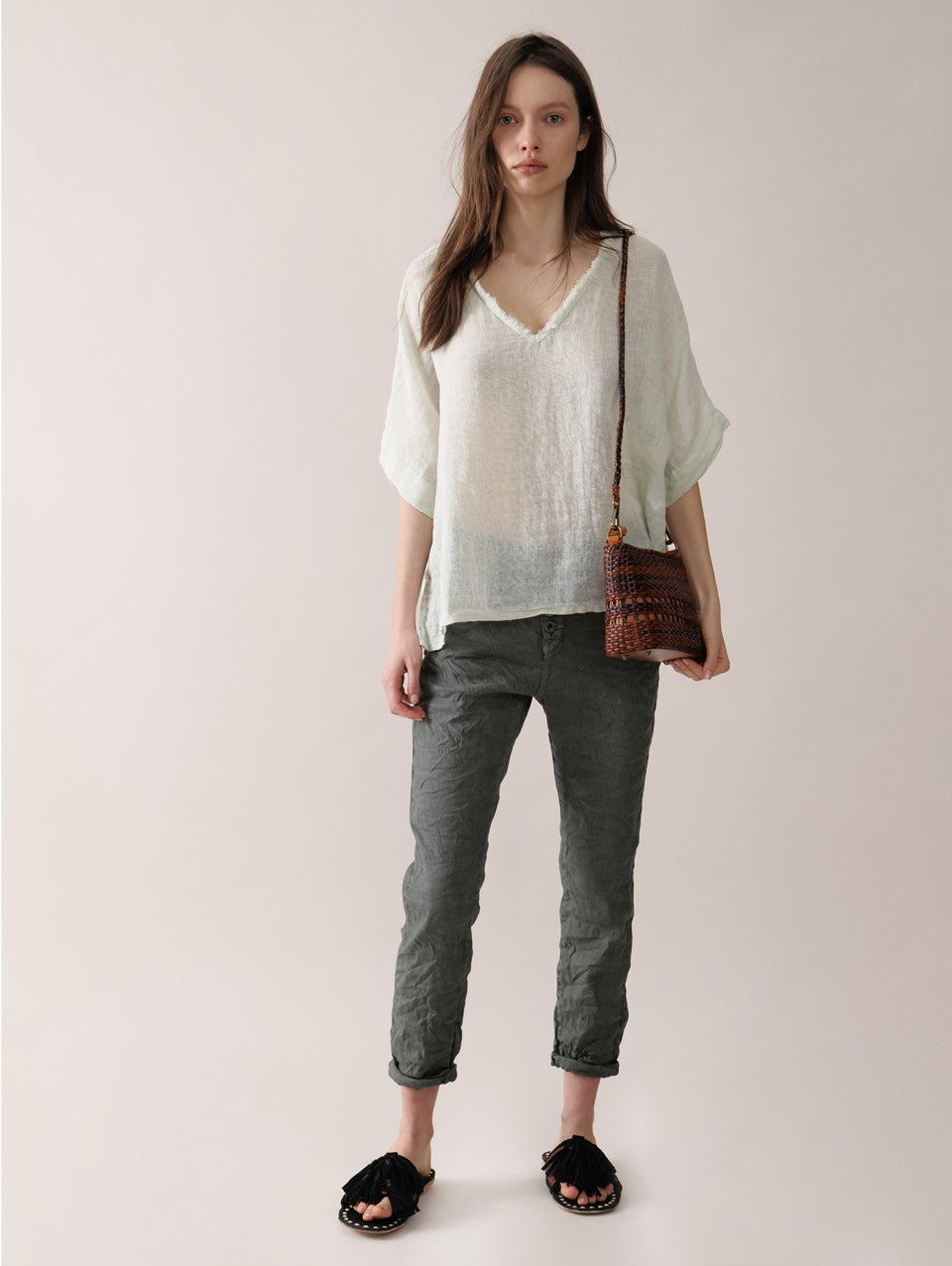SACK'S Brooke Blouse Sage