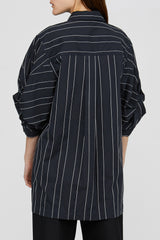 Black Acler Striped Knightley Shirt Back Detail