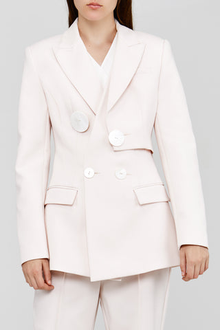 White Acler Lynne Blazer with Button Detail