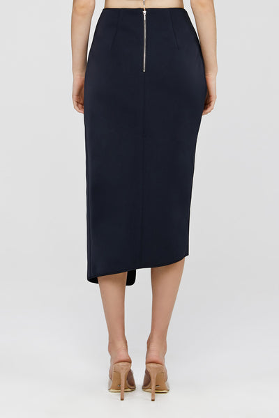 Back Zip Detail Black Acler Crawford Skirt