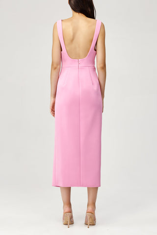 Acler Ladies Habana Dress in Pink with Drape Detail Back Detail