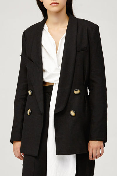 Acler Ladies Belvue Tailored Boyfriend Blazer in Black