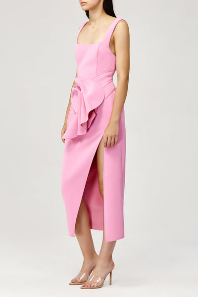 Acler Ladies Habana Dress in Pink with Drape Detail