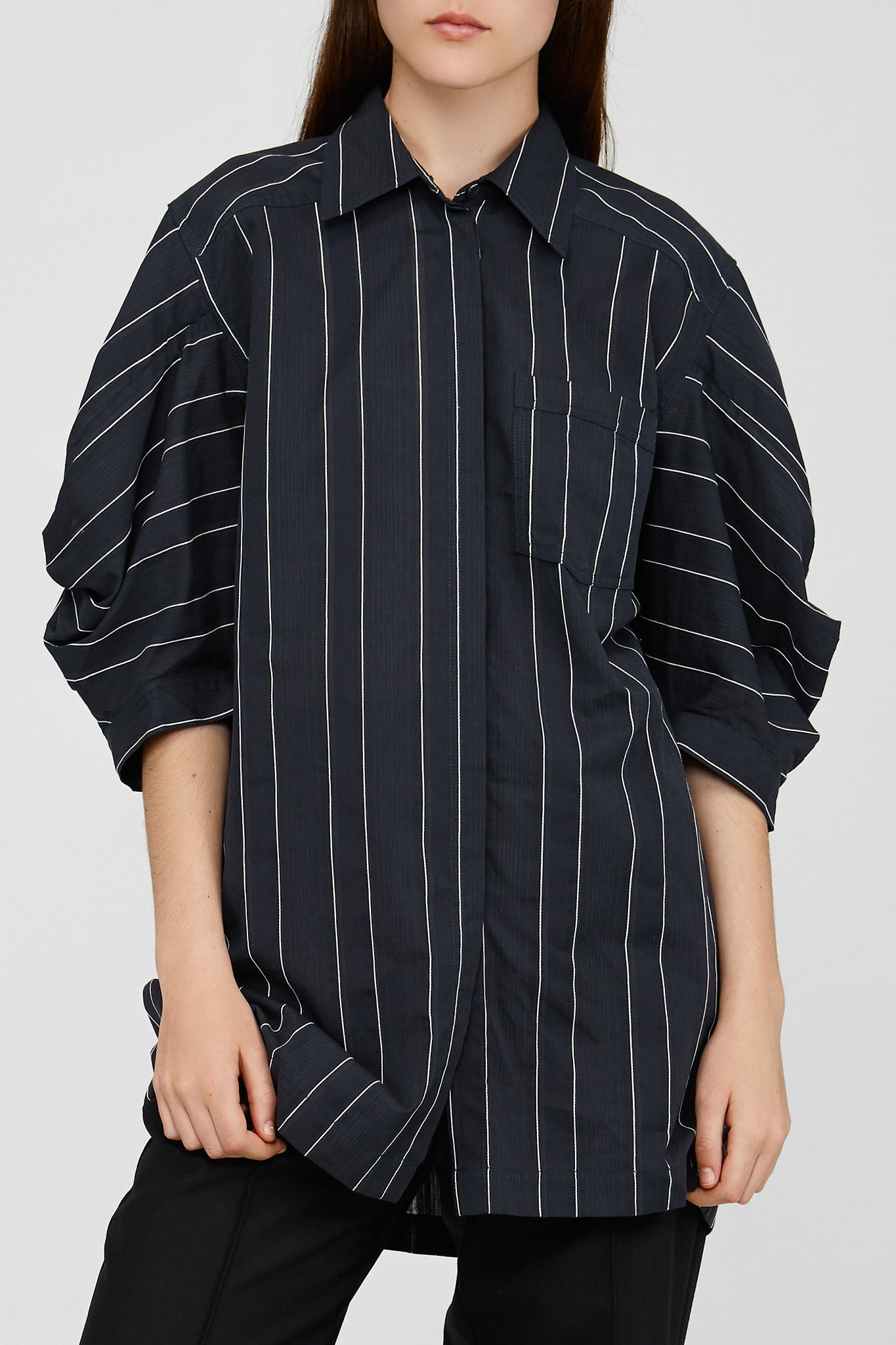 Black Acler Striped Knightley Shirt