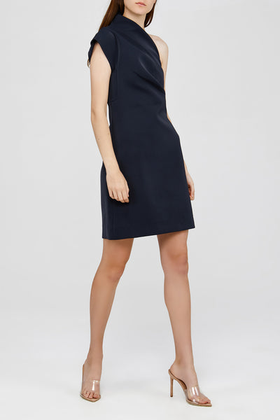 Black One Shoulder Acler Anguson Dress