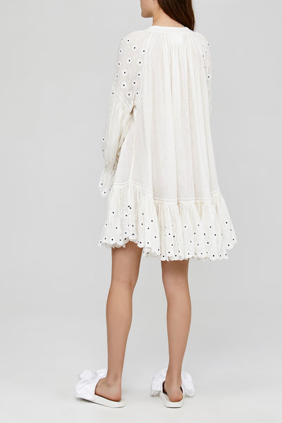 White Ladies Oversized Acler Dress Back Detail
