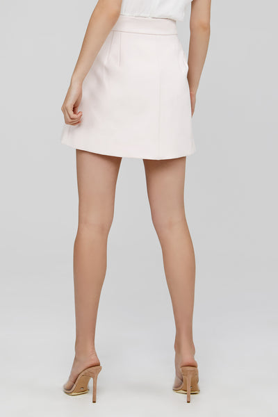 Pale Pink Acler Mini Skirt Back Detail