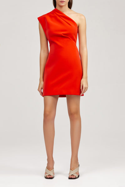 Red One Shoulder Acler Anguson Dress