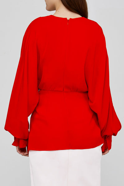 Back Detail on Red Acler Jenkins Blouse