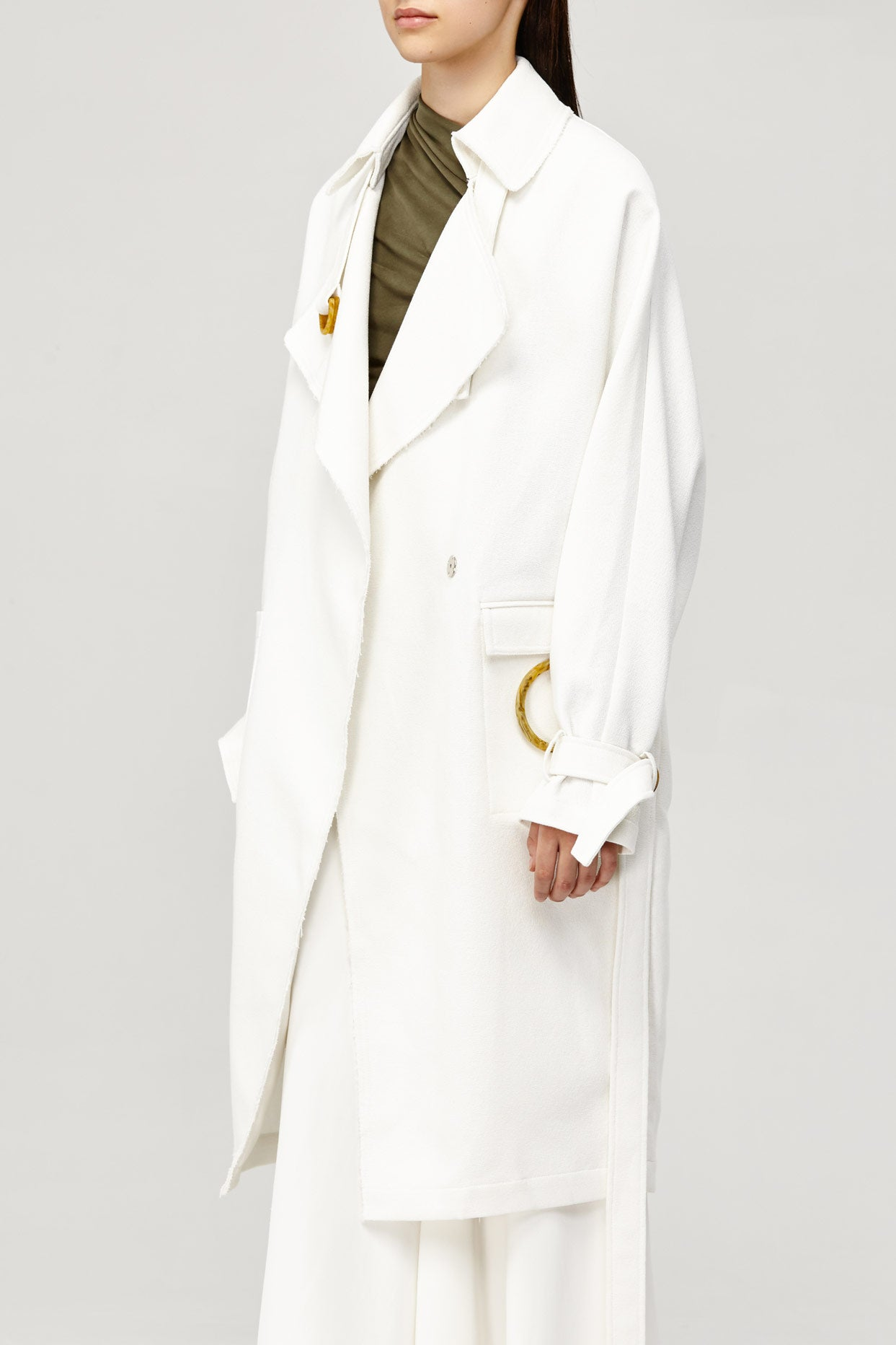 Acler Ladies Cream Collared Arbour Trench Coat