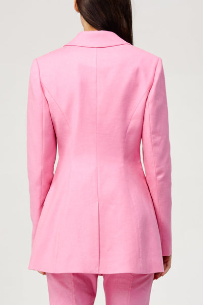 Acler Ladies Pink Aslo Blazer with Scalloped Edges Back Detail