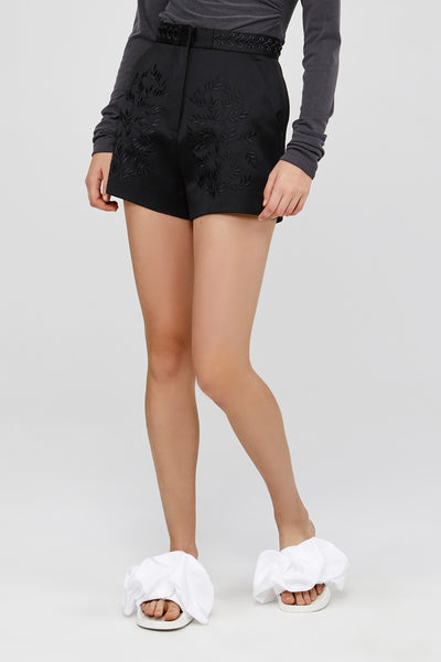 Acler Black High Waisted Mini Shorts