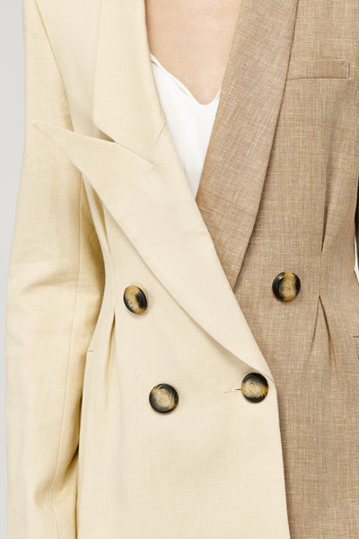 Acler Ladies Belvue Tailored Boyfriend Blazer in Bone
