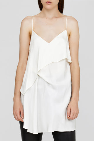 Ladies Acler White Loose Fitted Cami with Thin Straps