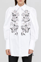 Ladies Acler Loose Fitted Blouse with Floral Embroidery
