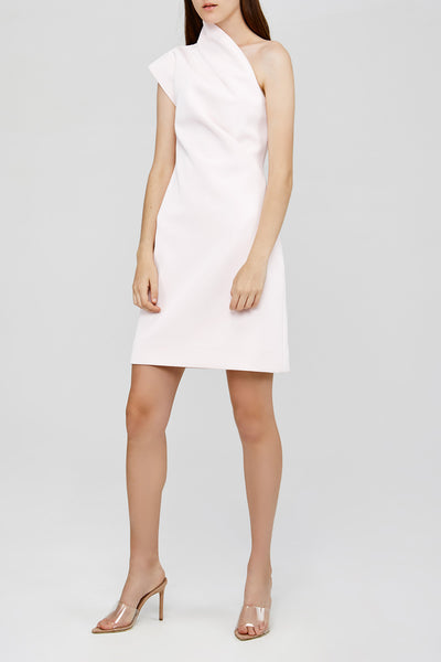 Pastel Pink One Shoulder Acler Anguson Dress