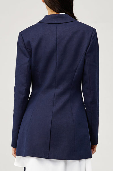 Acler Ladies Navy Aslo Blazer with Scalloped Edges Back Detail