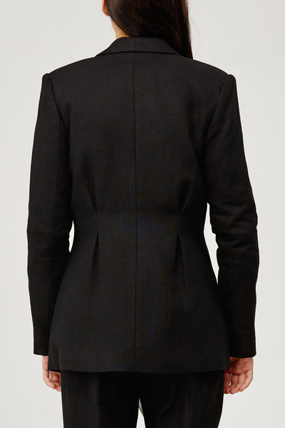 Acler Ladies Belvue Tailored Boyfriend Blazer in Black Back Detail
