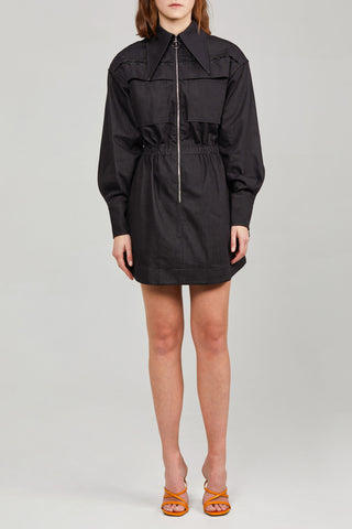 Black Oversized Ladies Acler Dress with Lacing Detail