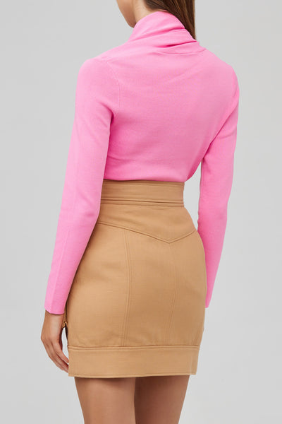 Acler Candy Pink, Long Sleeved Top - Back View