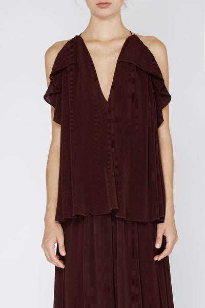 Mann Pleat Top