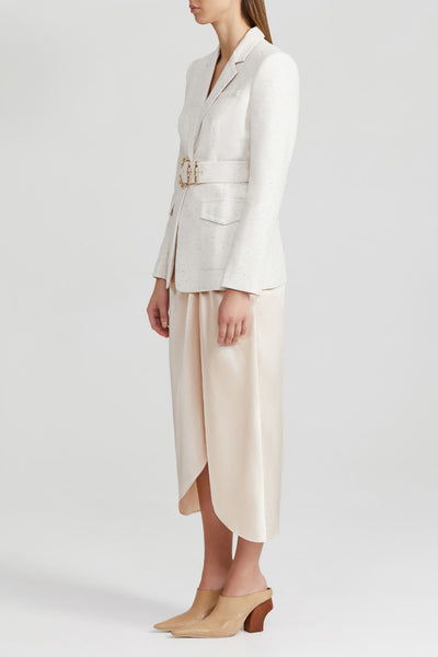 Acler Ladies, Cream, Single Breasted Blazer with Gold Bamboo Hardware Belt