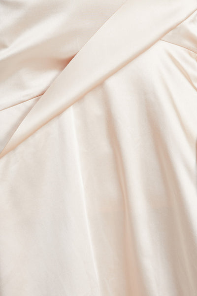 Acler Pale Pink, One Shoulder Midi Dress - Drape Detail