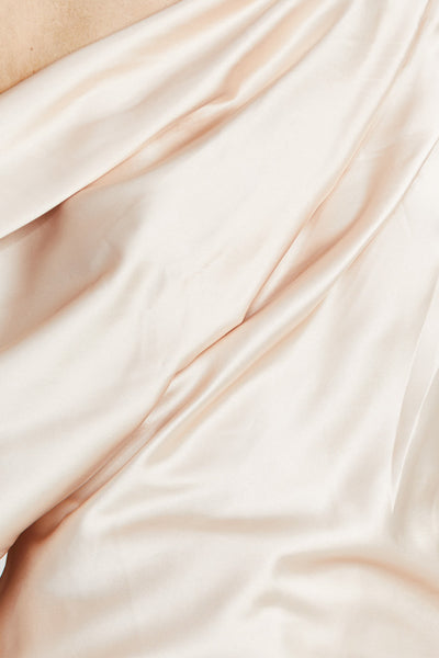 Acler Pale Pink Off Shoulder Top with Gather Detail