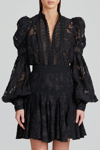 Acler Black Lace