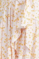 Acler Clairmont Dress fabric - pastel pink with soft yellow spots