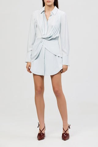 ACLER BLUE ALMA SILK SHIRT DRESS