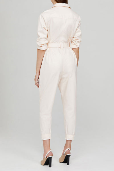 Acler Ladies Pastel Pink Relaxed Fit Boiler Suit with Belt - Back Detail
