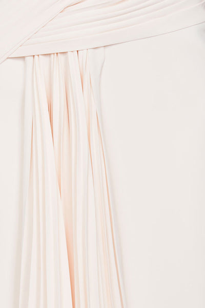 Acler Ladies Pastel Pink Midi Dress - Asymmetrical Drape Detail