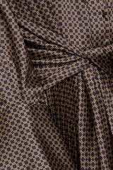 Acler Long Sleeved Chocolate Brown Dress - Twist Waist Detail