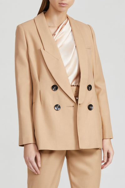 Acler Ladies Biscuit Brown, Long Sleeved Blazer
