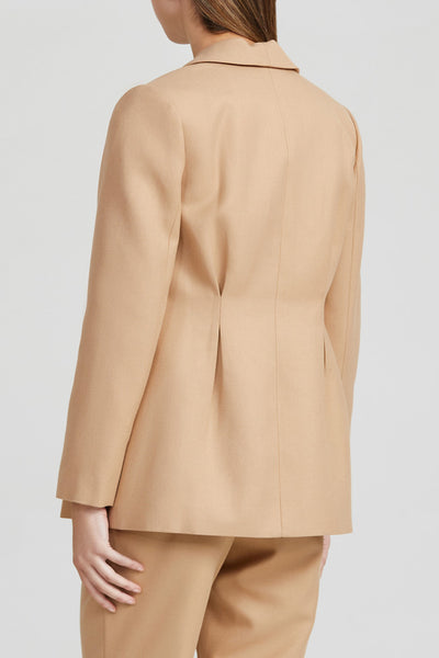 Acler Ladies Biscuit Brown, Long Sleeved Blazer - Back Detail