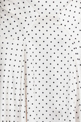 Acler Ladies Full Length Ivory Skirt with Asymmetrical Hemline and Black Polka Dots - Pattern Detail