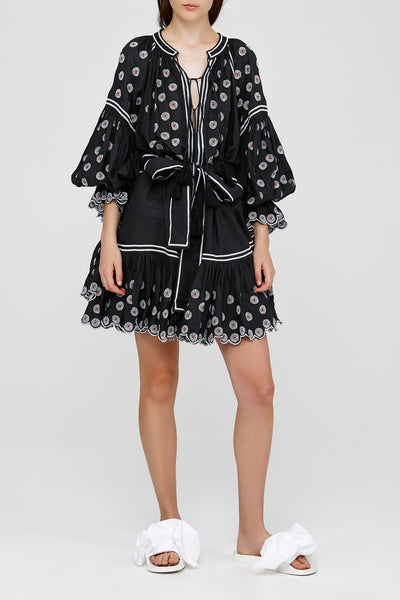 Black Ladies Oversized Acler Dress with Tassels