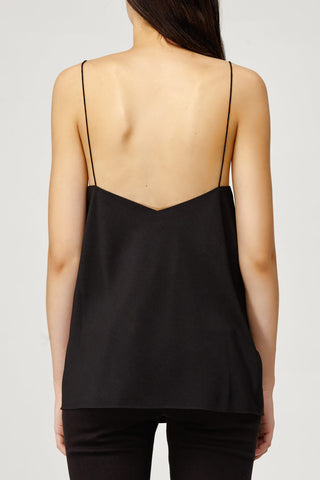Acler Ladies Loose Fitted Black Aviel Cami with Scalloped Neckline Back Detail