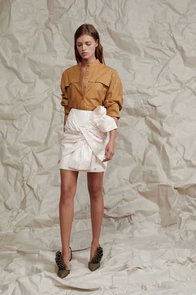 Acler Ladies Oversized Caramel Shirt with Detachable Belt