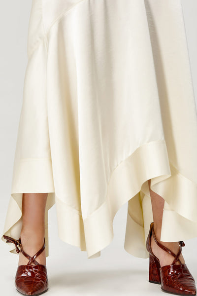 Acler Ladies Cream Soto High Waisted, Asymmetrical Skirt
