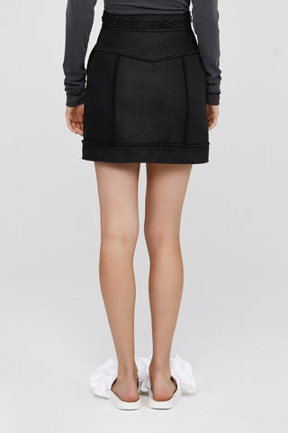 Dark Grey Acler Ladies Collins Mini Skirt with Panelling