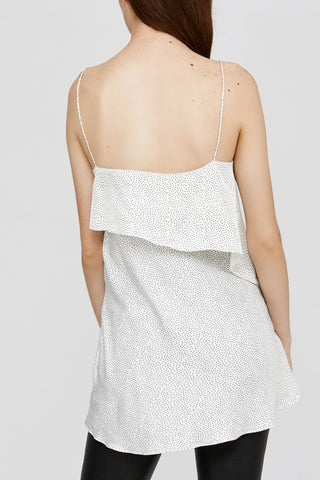 Ladies Acler Off White Loose Fitted Cami with Thin Straps Back Detail