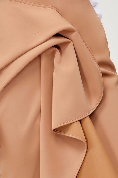 Acler Ladies Tan Crawford Skirt with Draped Wrap