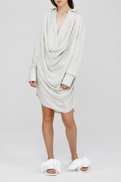 Off White Acler Ladies Oversized Drape Mini Dress