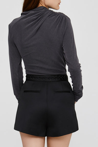 Grey Ladies Acler Long Sleeved Top Back Detail