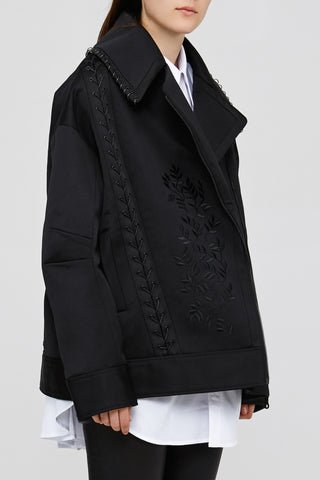 Ladies Black Oversized Acler Gardiner Jacket